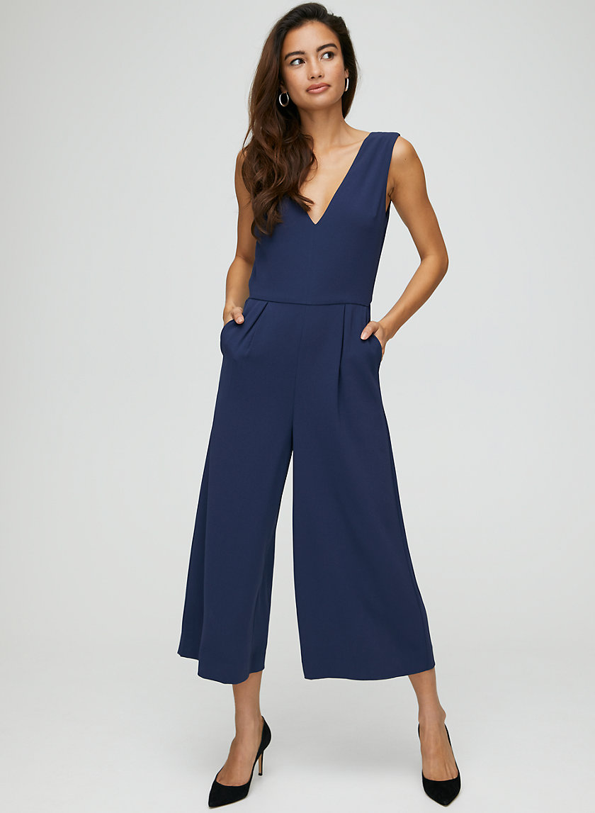 MARCUS JUMPSUIT - Wide-leg, V-neck jumpsuit