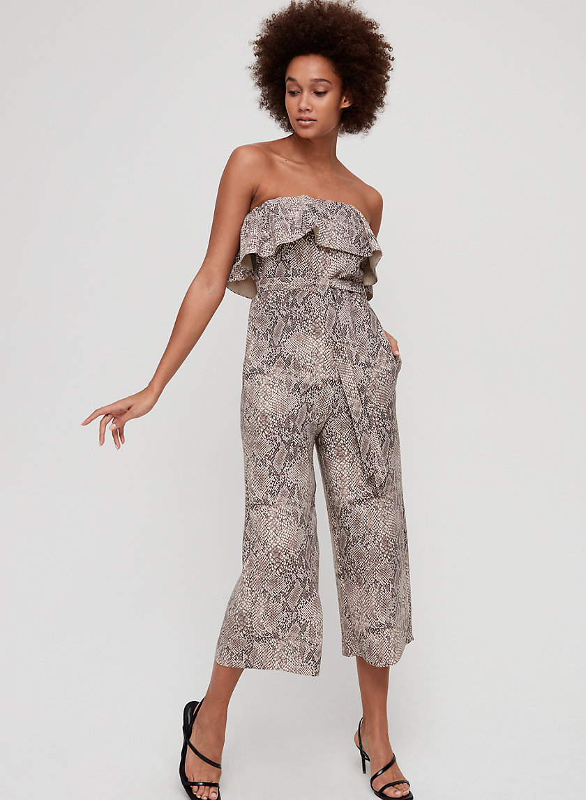 ALTAMIRO JUMPSUIT - Ruffled, strapless jumpsuit