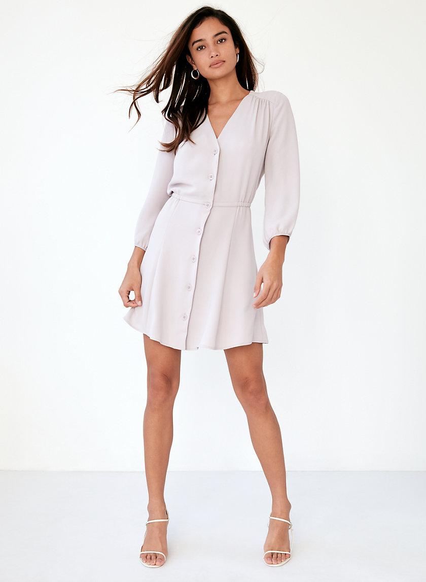 DAY DRESS - Button-up, V-neck dress