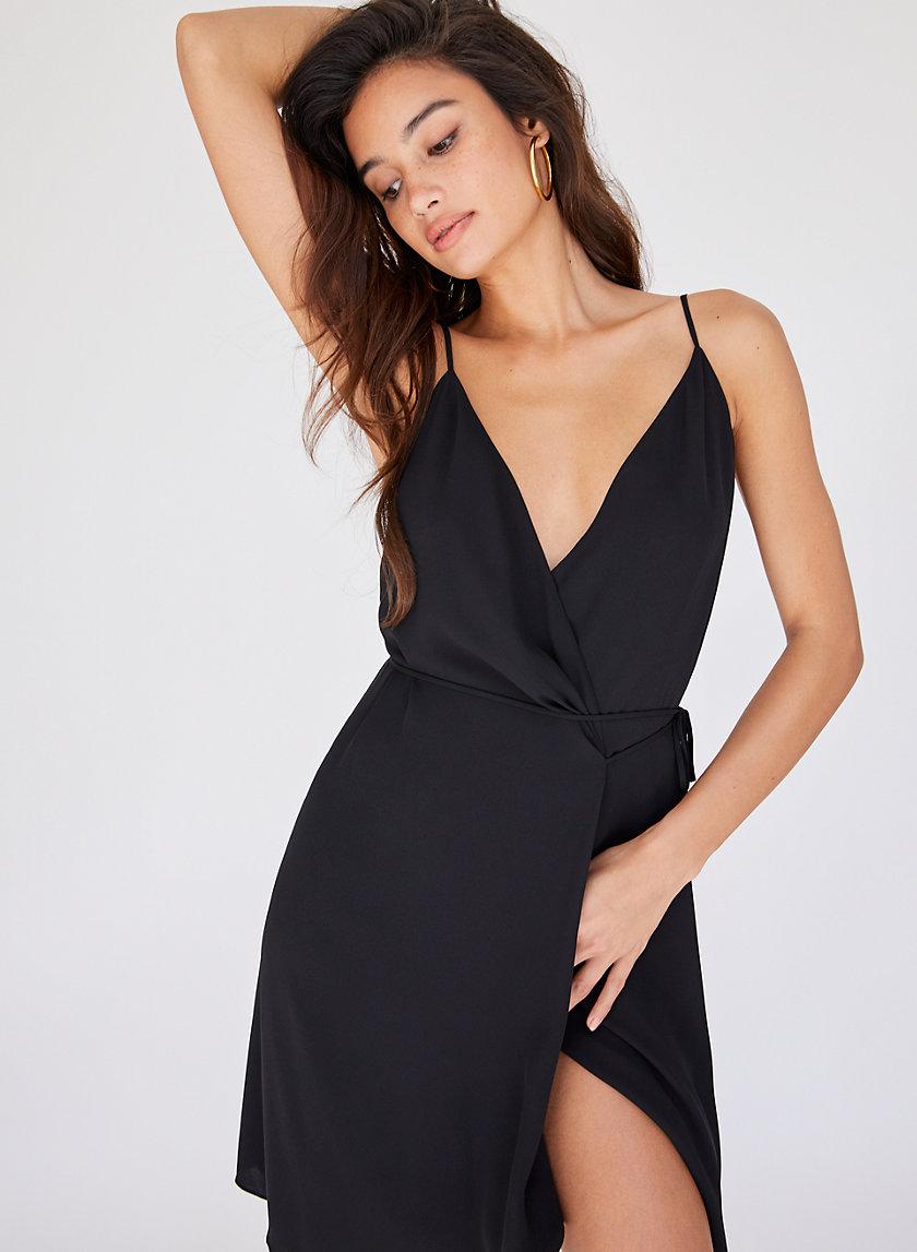 WALLACE DRESS SLVS - Sleeveless wrap dress