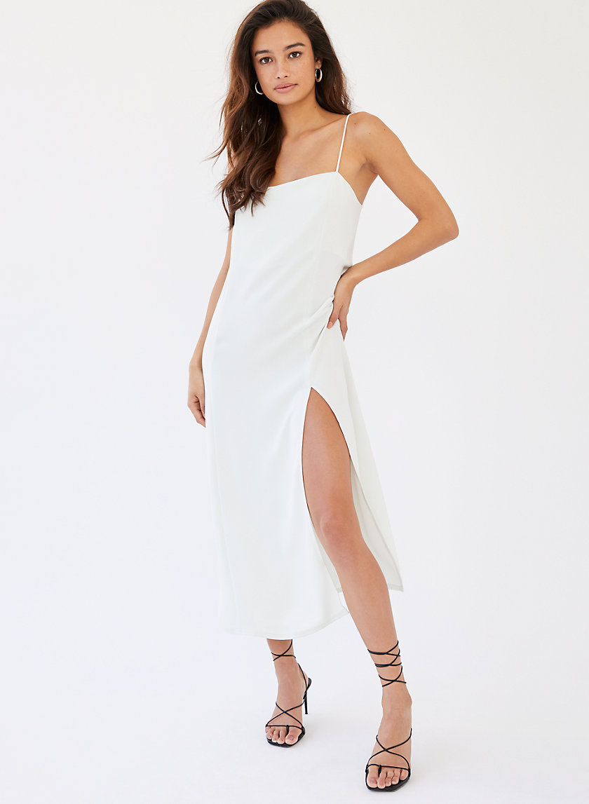 SLIT SLIP DRESS - Midi slip dress