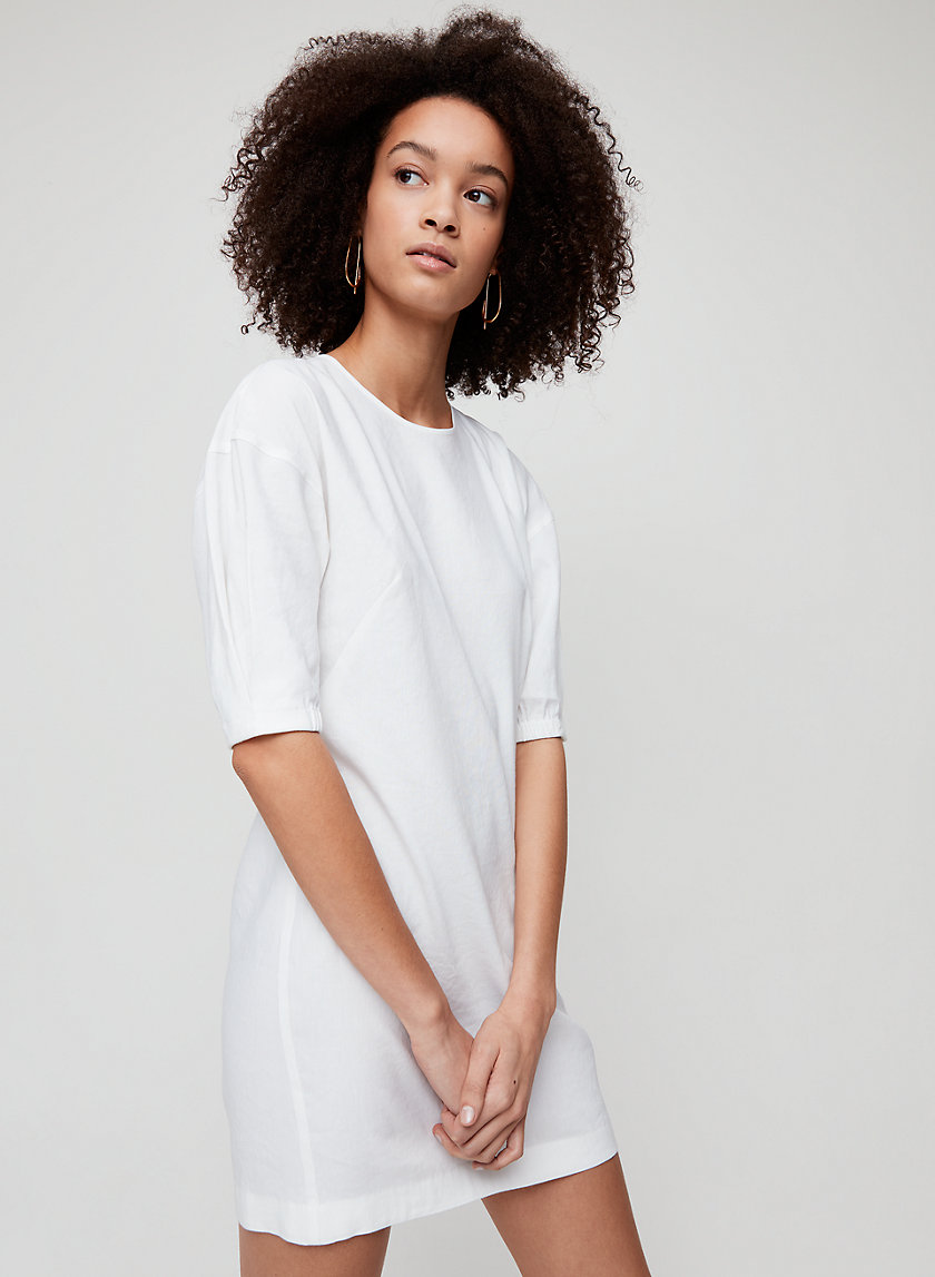 TEILO DRESS - Puff-sleeve shift dress