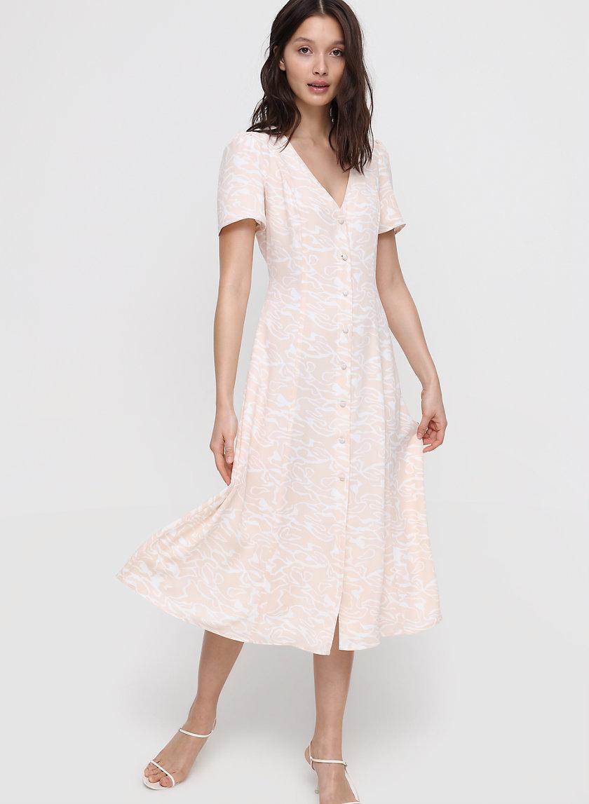 ELIN DRESS - Button-front midi dress