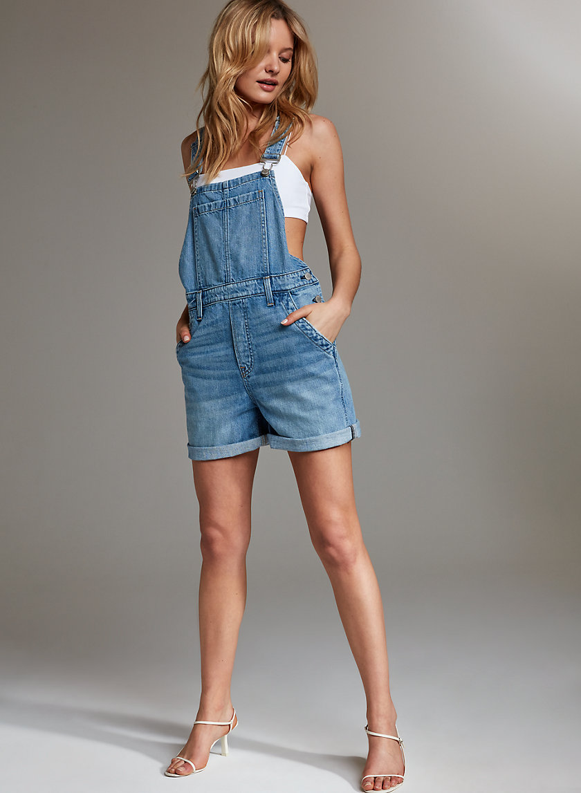 THE CARRIE OVERALL - Jean overall shorts