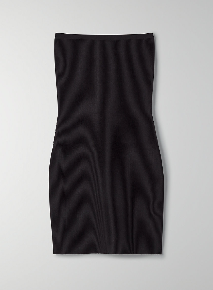 ESSAMBA DRESS - Strapless ribbed dress