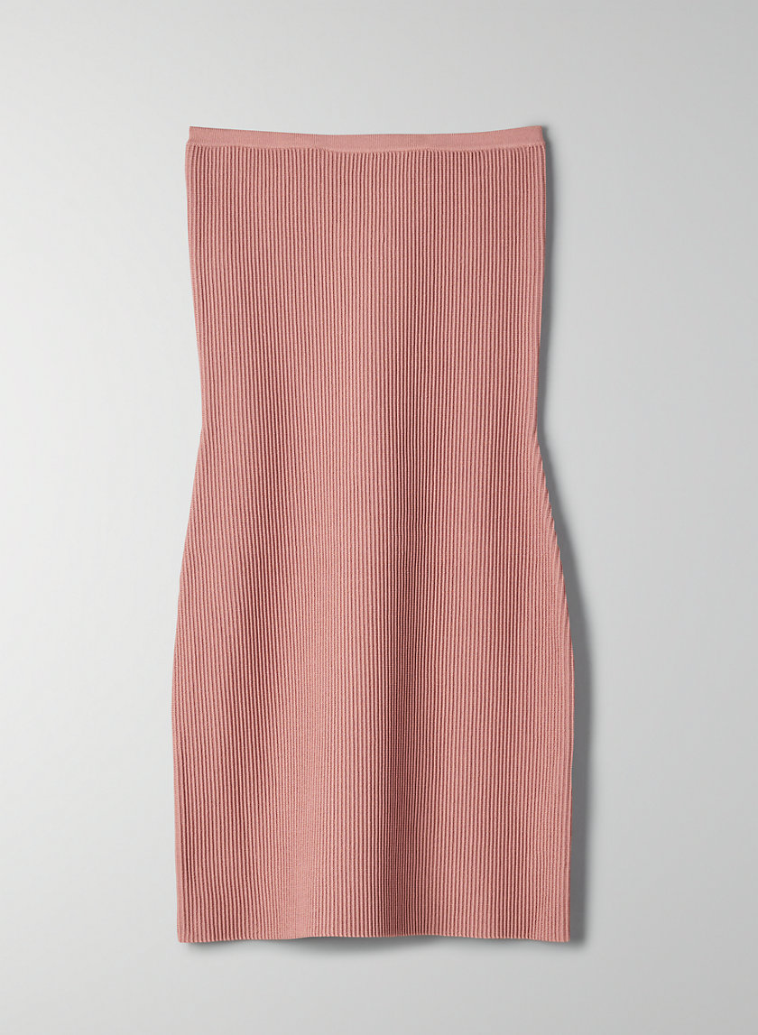ESSAMBA DRESS - Strapless ribbed dress