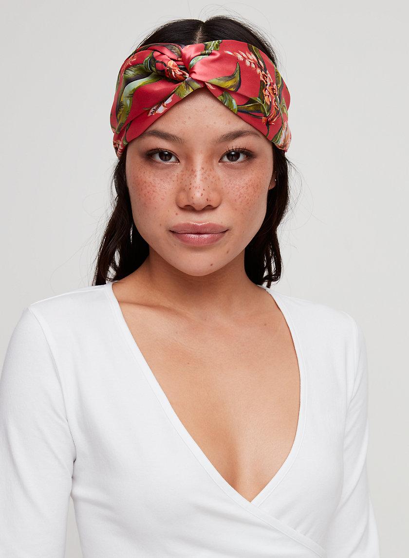 SHELBY HEADBAND - Twist-front satin headband