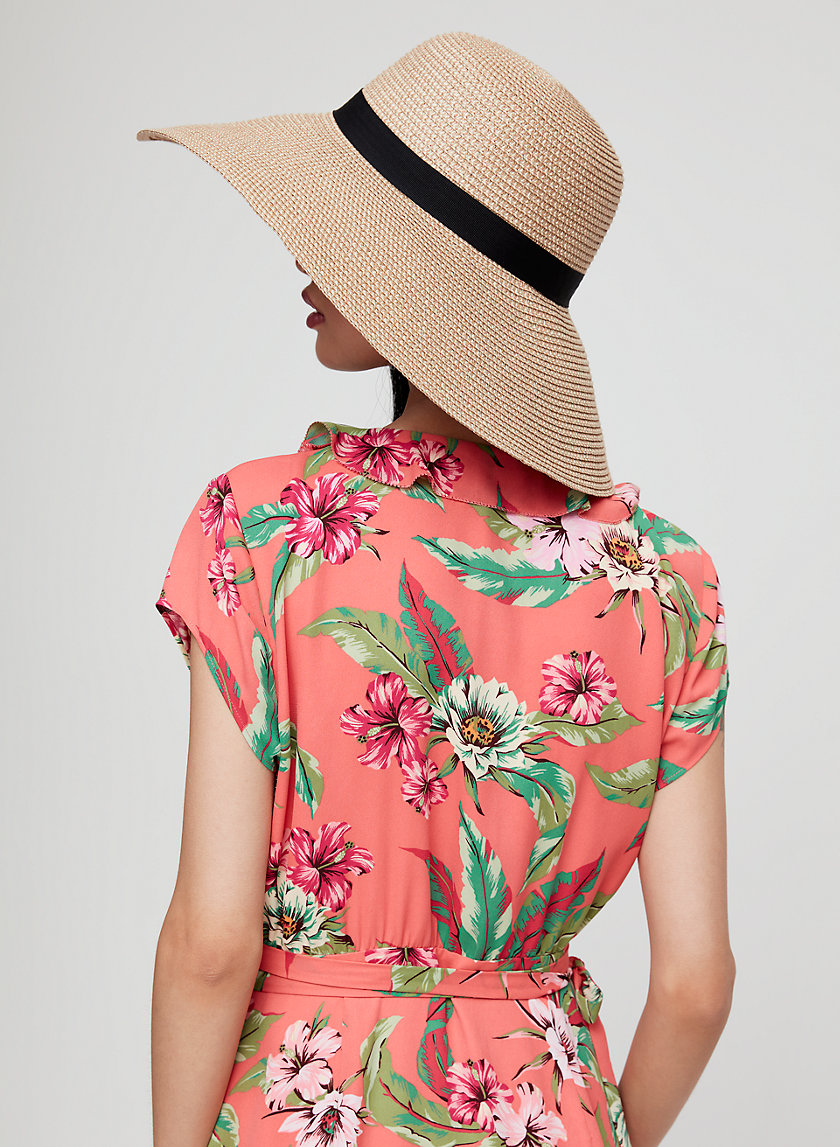 RAVEN STRAW HAT - Floppy packable hat