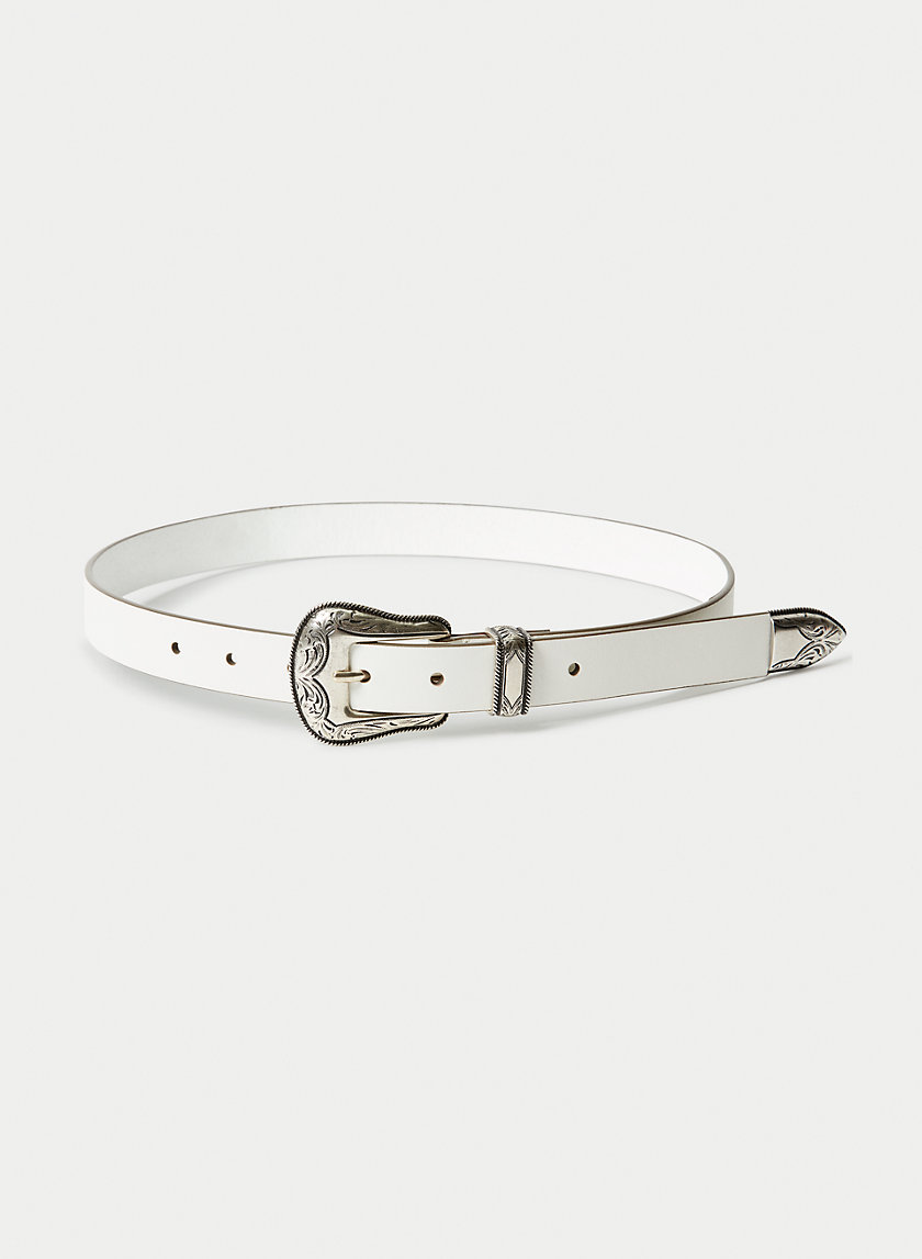 SKINNY WESTERN BELT - Skinny leather belt