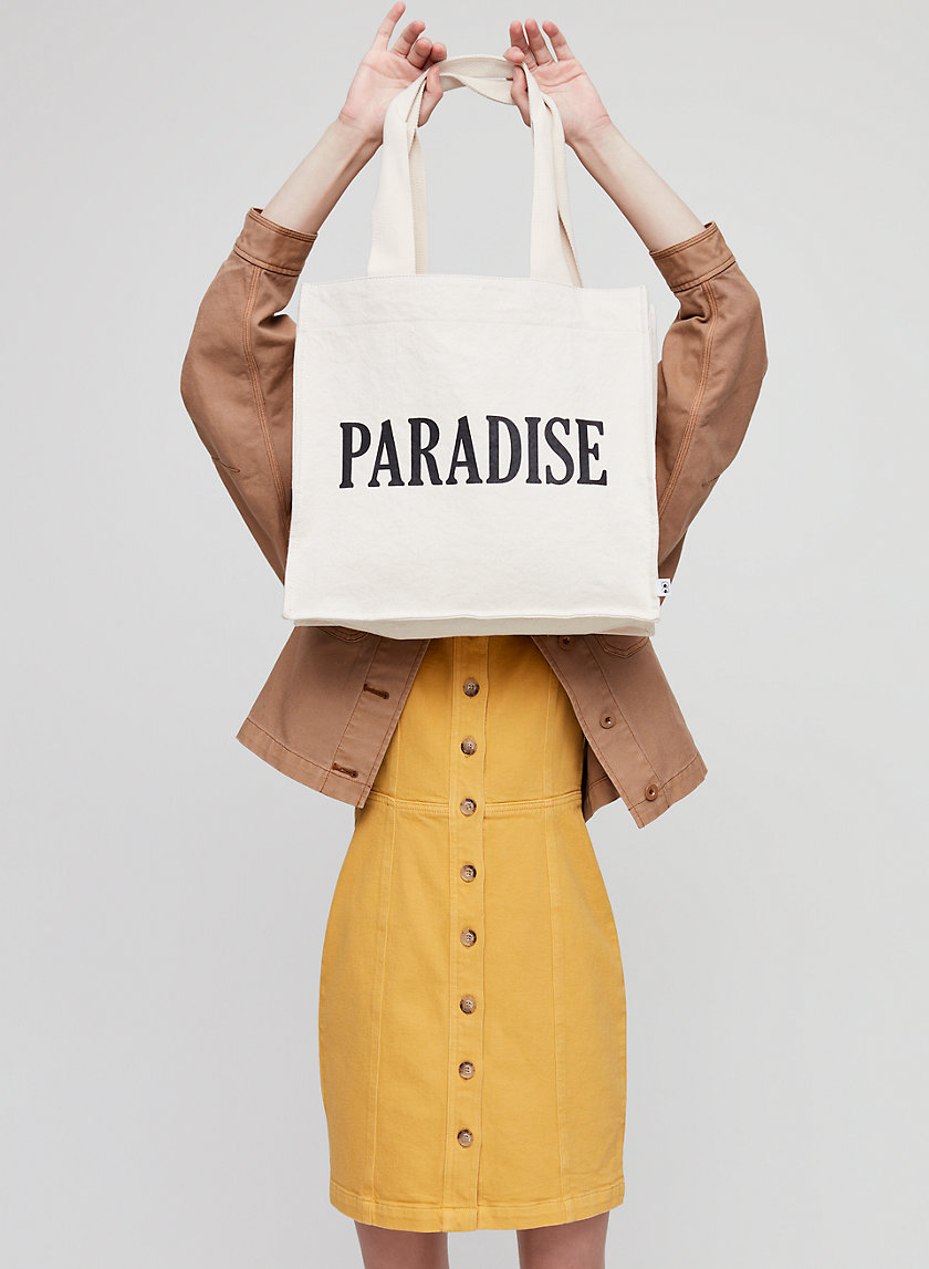 PARADISE TOTE - Vintage-washed tote bag