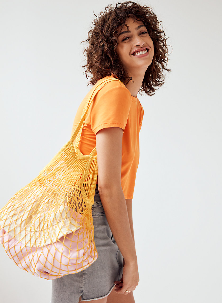 MARKET TOTE - French fishnet tote bag