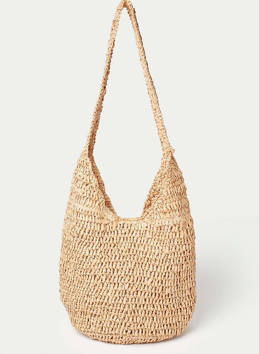 STRAW HOBO - Vintage-inspired hobo bag