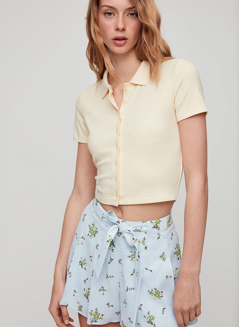 HADLEY SHIRT - Button-front polo t-shirt
