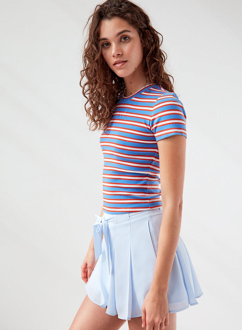 EVERDEEN T-SHIRT - Ribbed striped  t-shirt