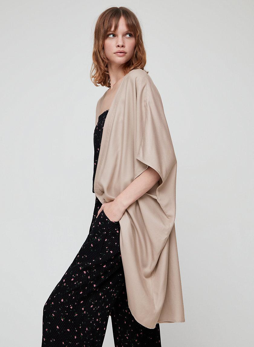 AITKEN BLOUSE - Lightweight twill kimono