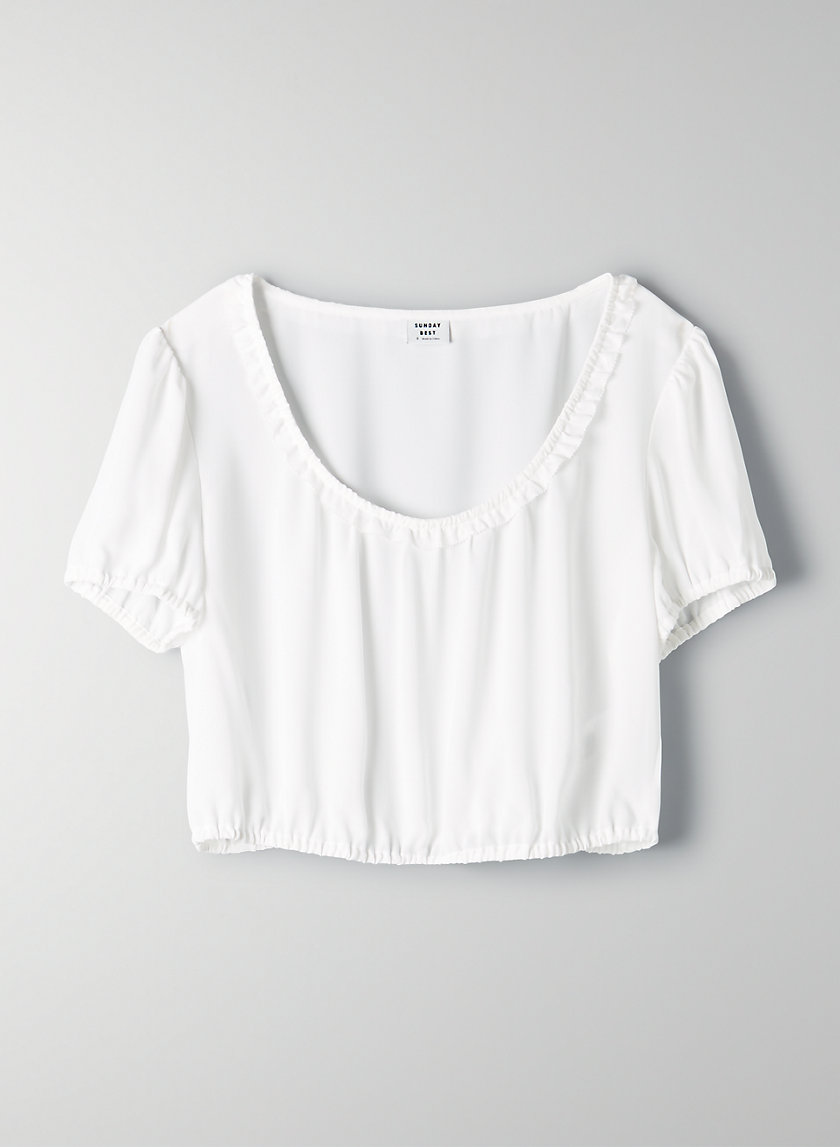 DANA CROPPED TOP - Cropped, peasant blouse