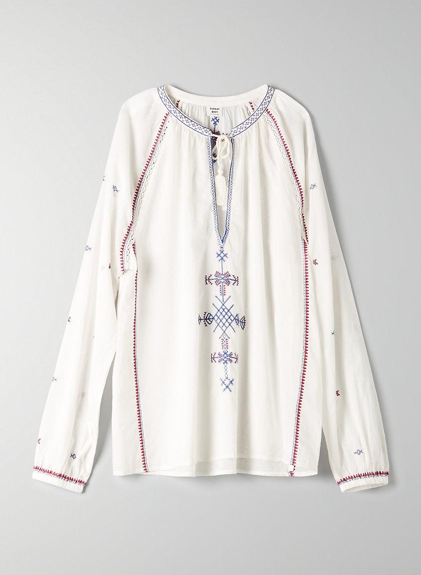 ANNALISE BLOUSE - Embroidered, boho blouse