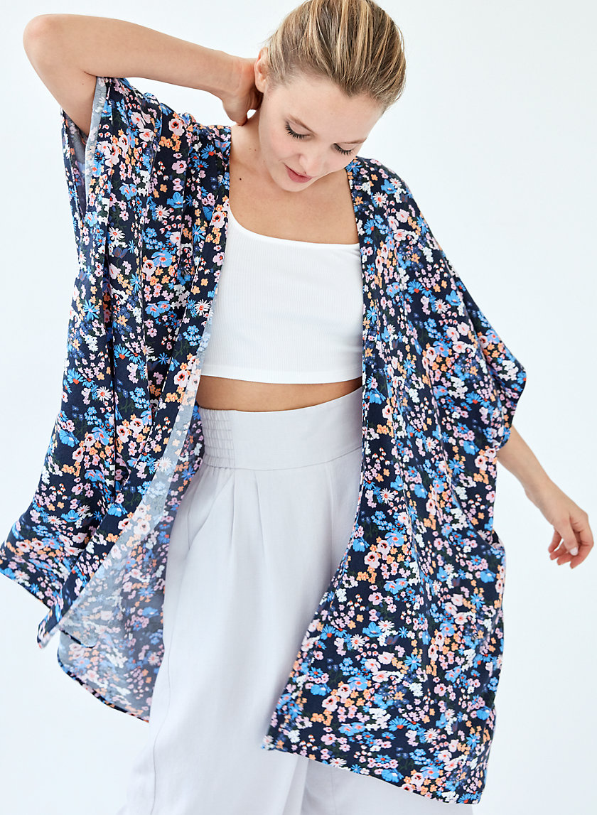 AITKEN KIMONO - 3/4 sleeve floral kimono