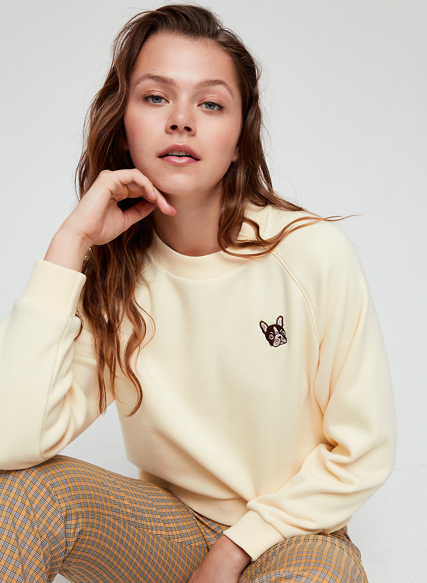 ELLIE SWEATER - Embroidered bulldog sweatshirt