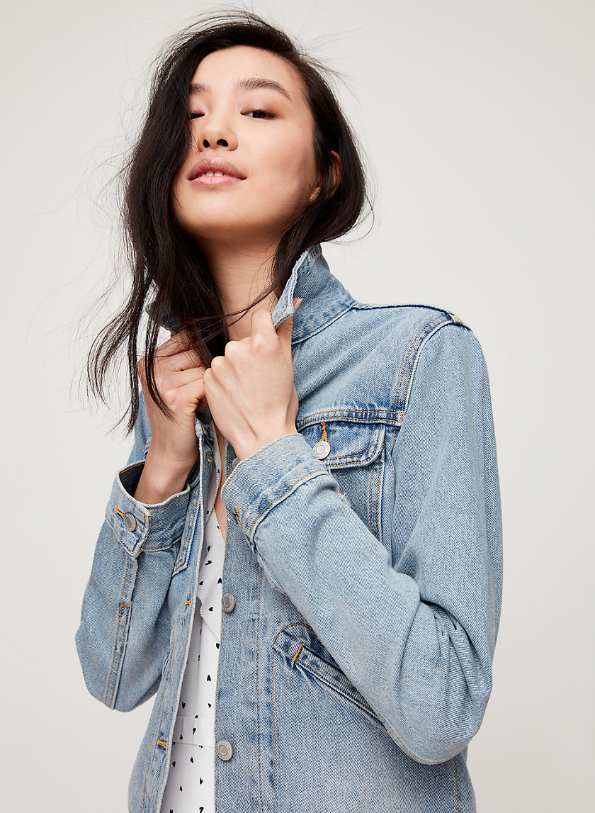 TALISA JEAN JACKET - Fitted denim jacket