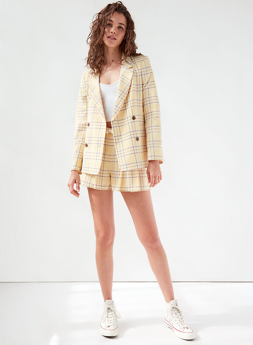 GALT BLAZER - Checkered, double-breasted blazer