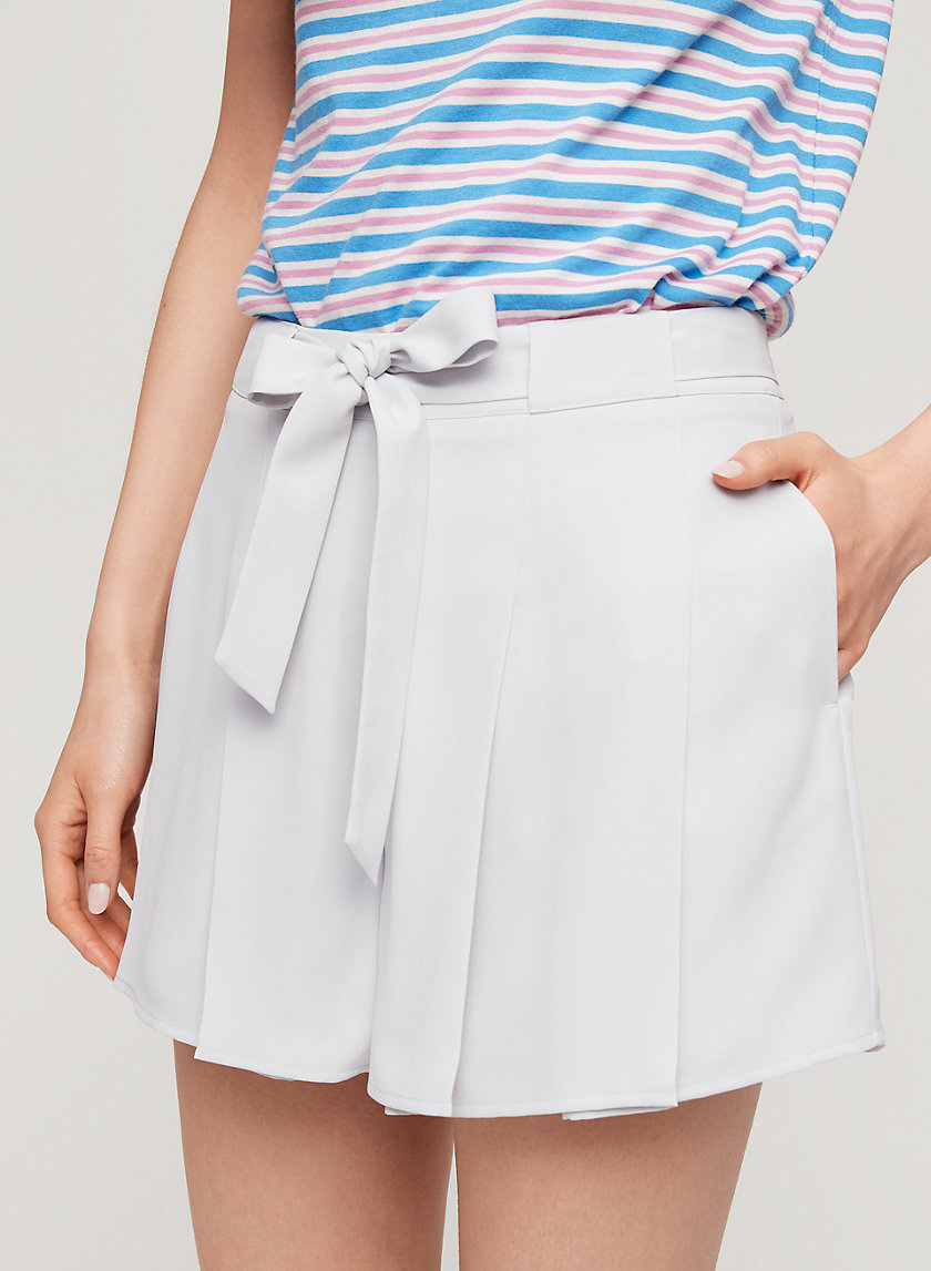 WESTLEY SHORT - Pleated, tie-front shorts