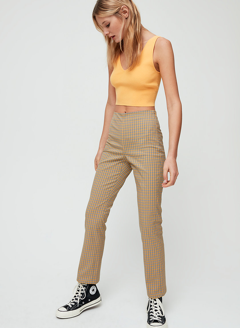 MERIDA PANT - Cropped, high-waisted pant