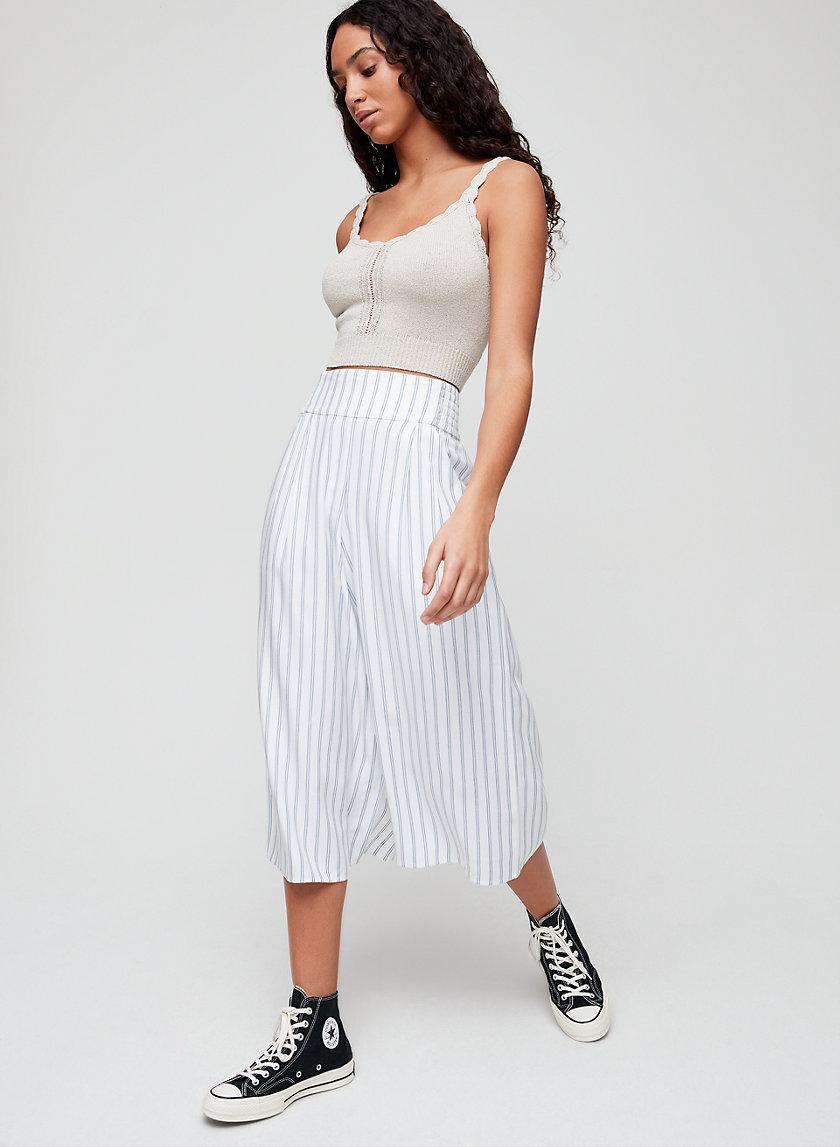 SULLIVAN PANT - Pinstripe culottes