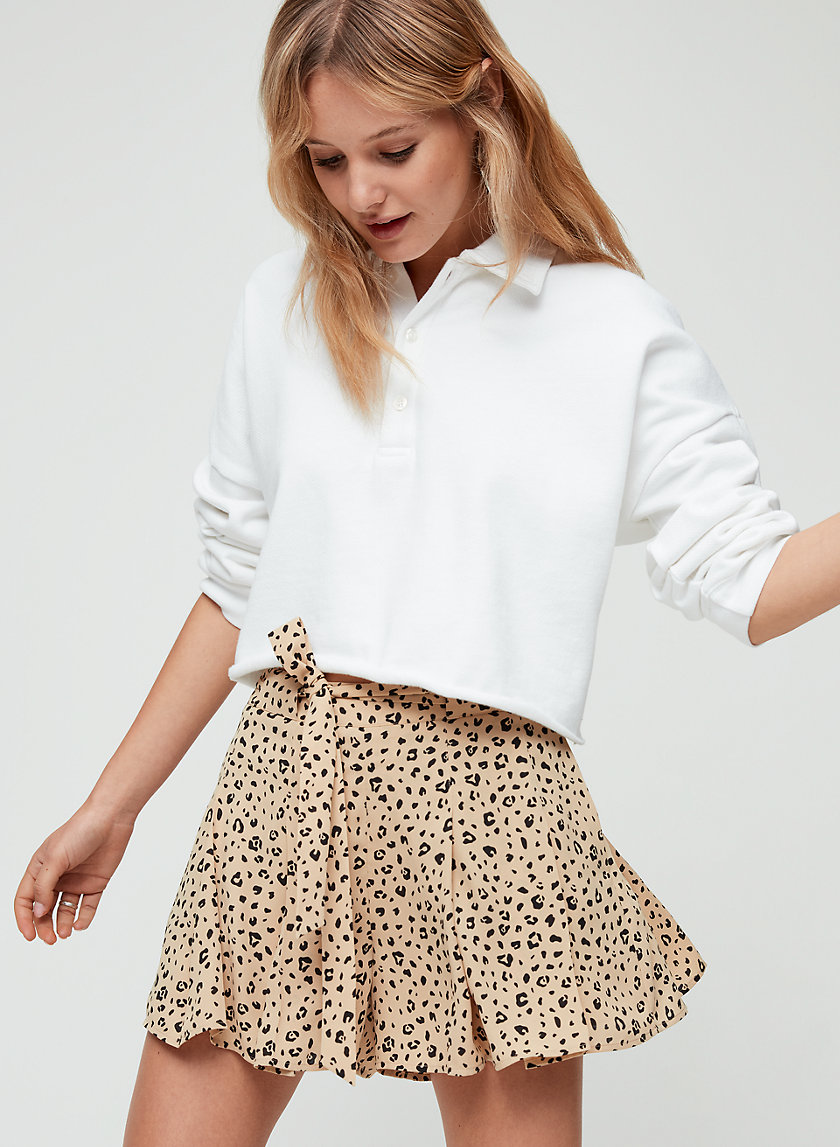 WESTLEY SHORT - Flowy leopard-print shorts