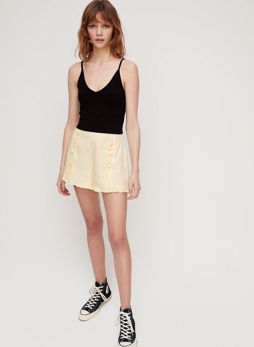 GEMMA SHORT - Ruffled-trim shorts
