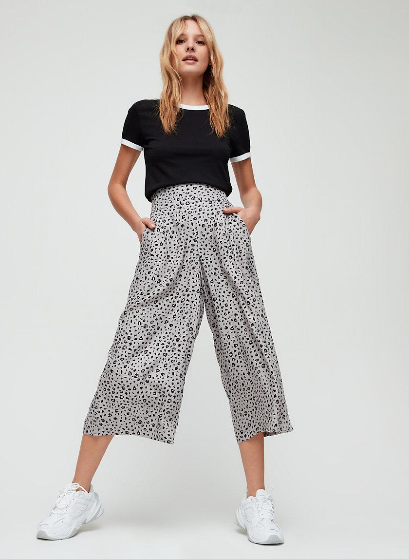 SULLIVAN PANT - Leopard-print culottes