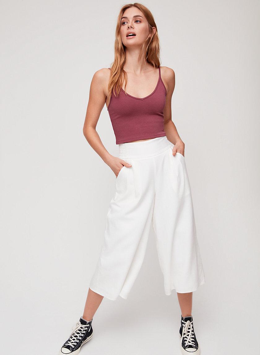 SULLIVAN PANT - Cropped, linen-blend culottes