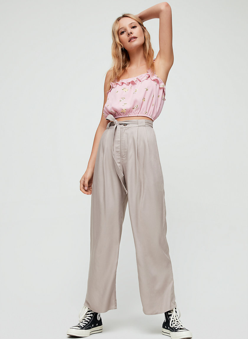 ERINJOY PANT - High-waisted, wide-leg pant