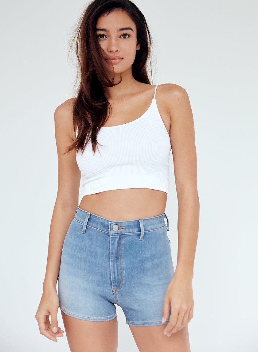 MOLLY SHORTY SHORT - High-waisted denim shorts