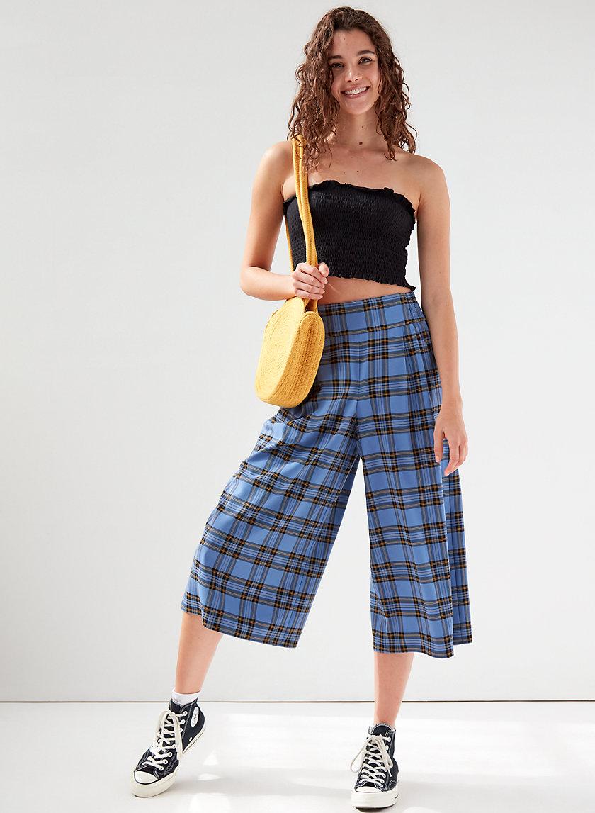 SULLIVAN PANT - Check print culottes