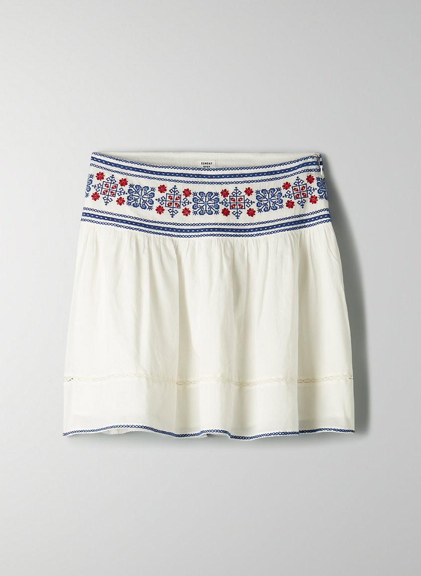 CADENCE SKIRT - Embroidered A-line skirt