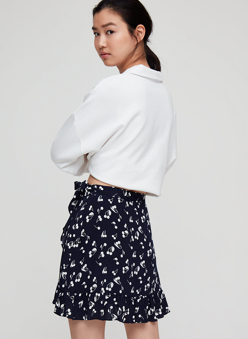 ANNELY SKIRT - Ruffled, wrap mini skirt