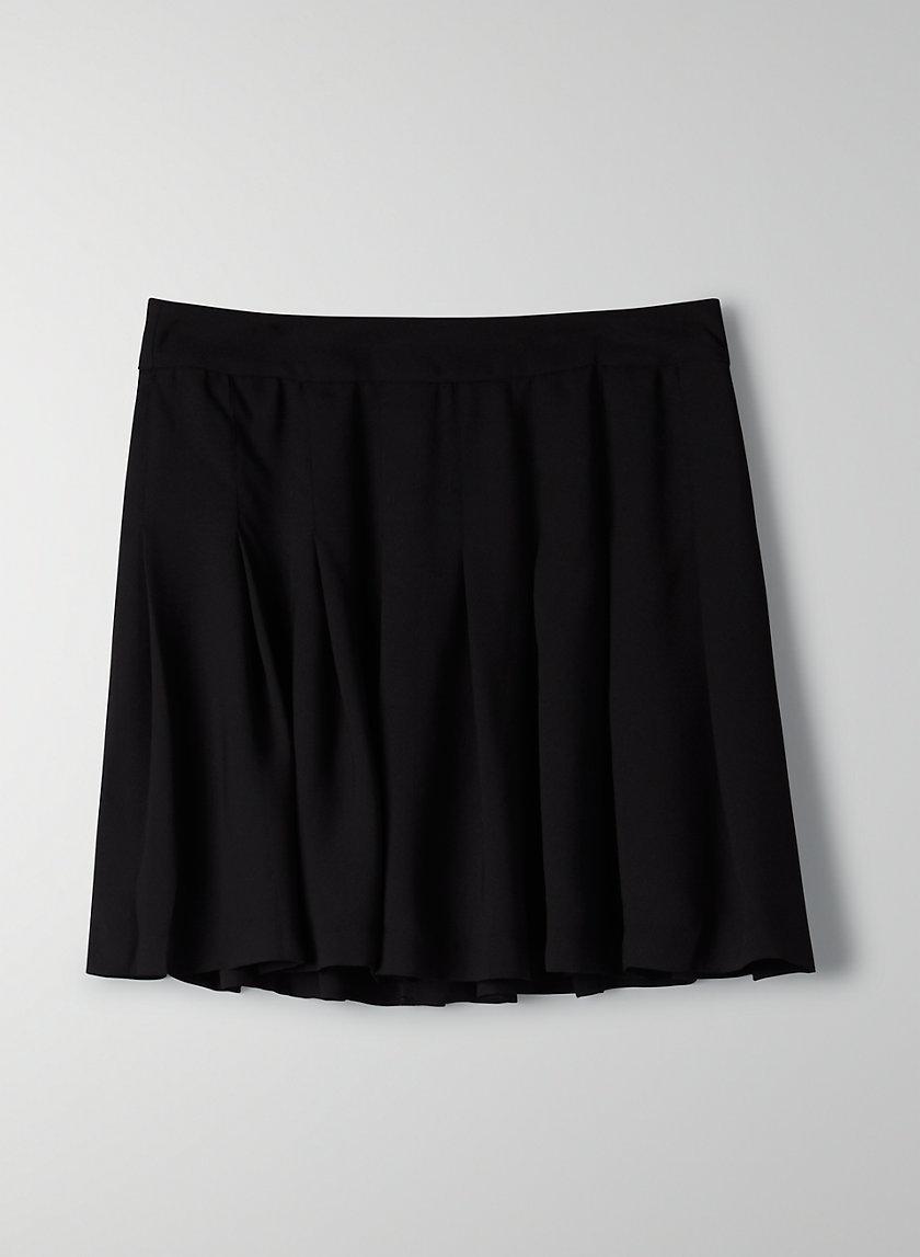OLIVE SKIRT - Pleated mini skirt