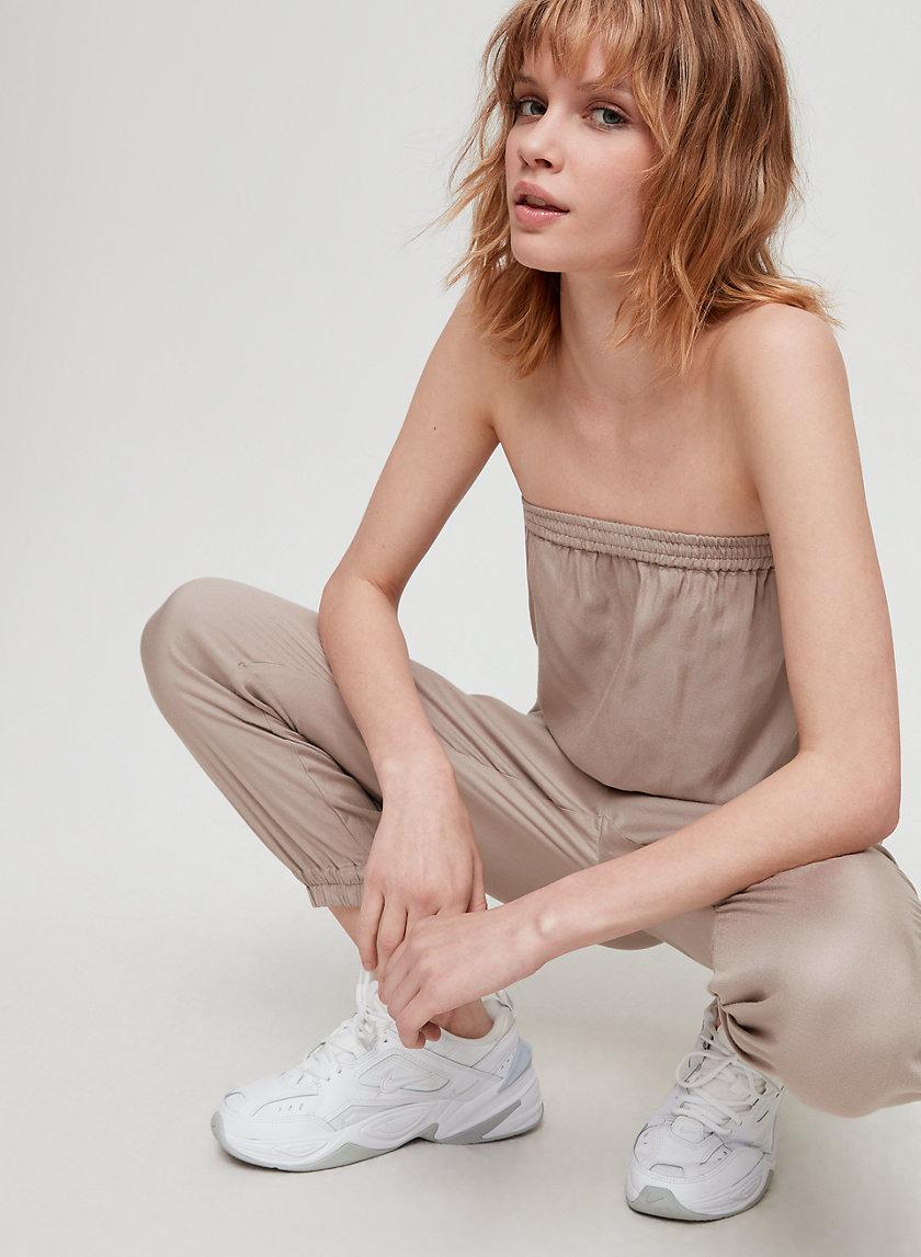 TABATA JUMPSUIT - Strapless, cinched jumpsuit