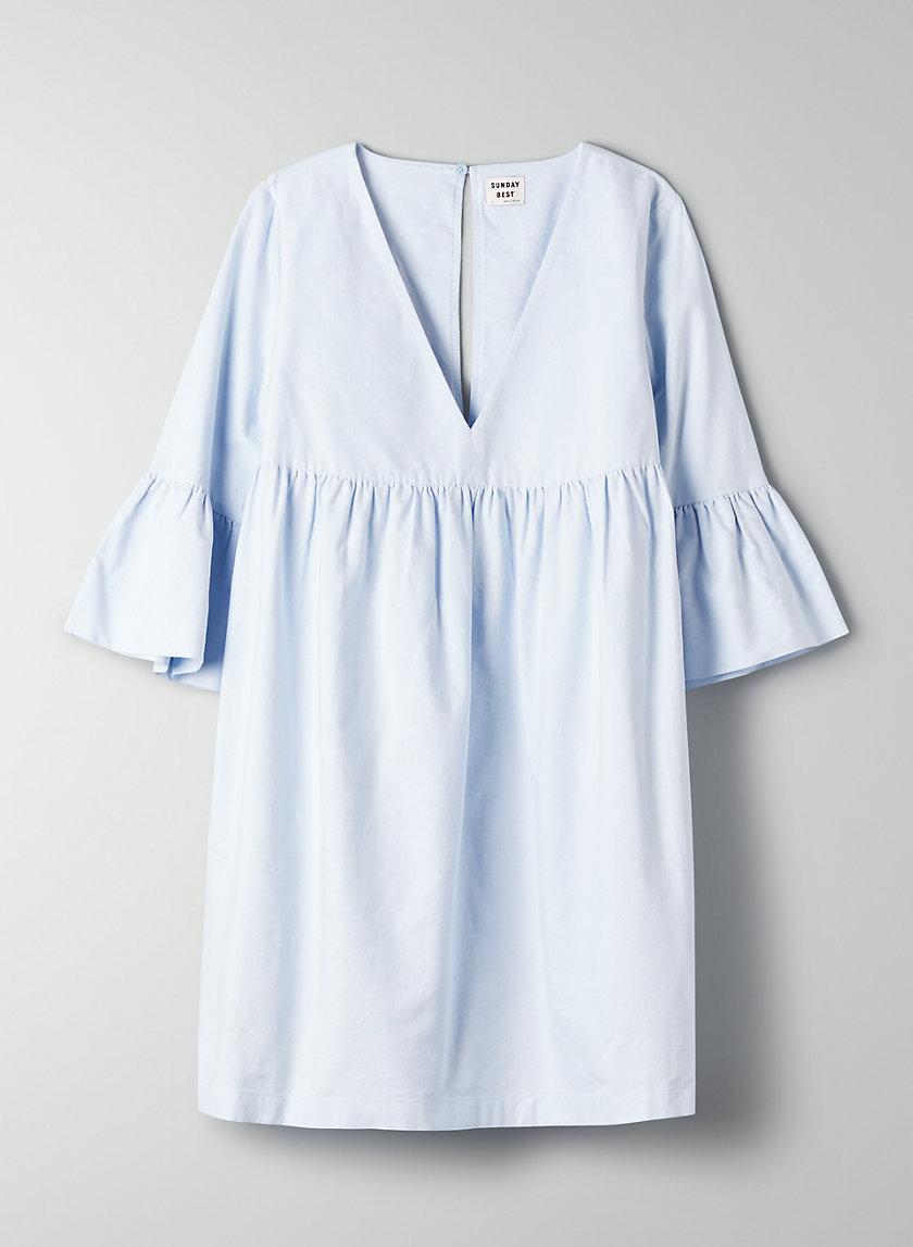 BELL-SLEEVE DRESS - V-Neck Babydoll Dress
