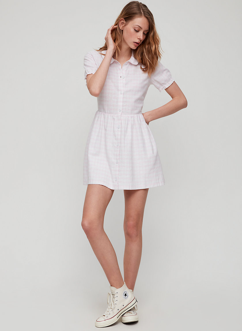 MYLA DRESS - Linen Peter Pan collar dress