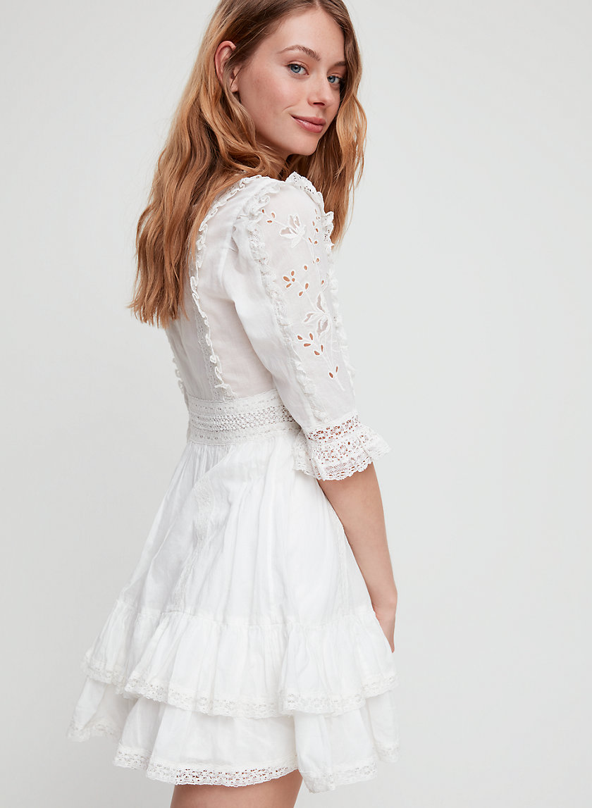 TAURIEL DRESS - Short-sleeve eyelet dress