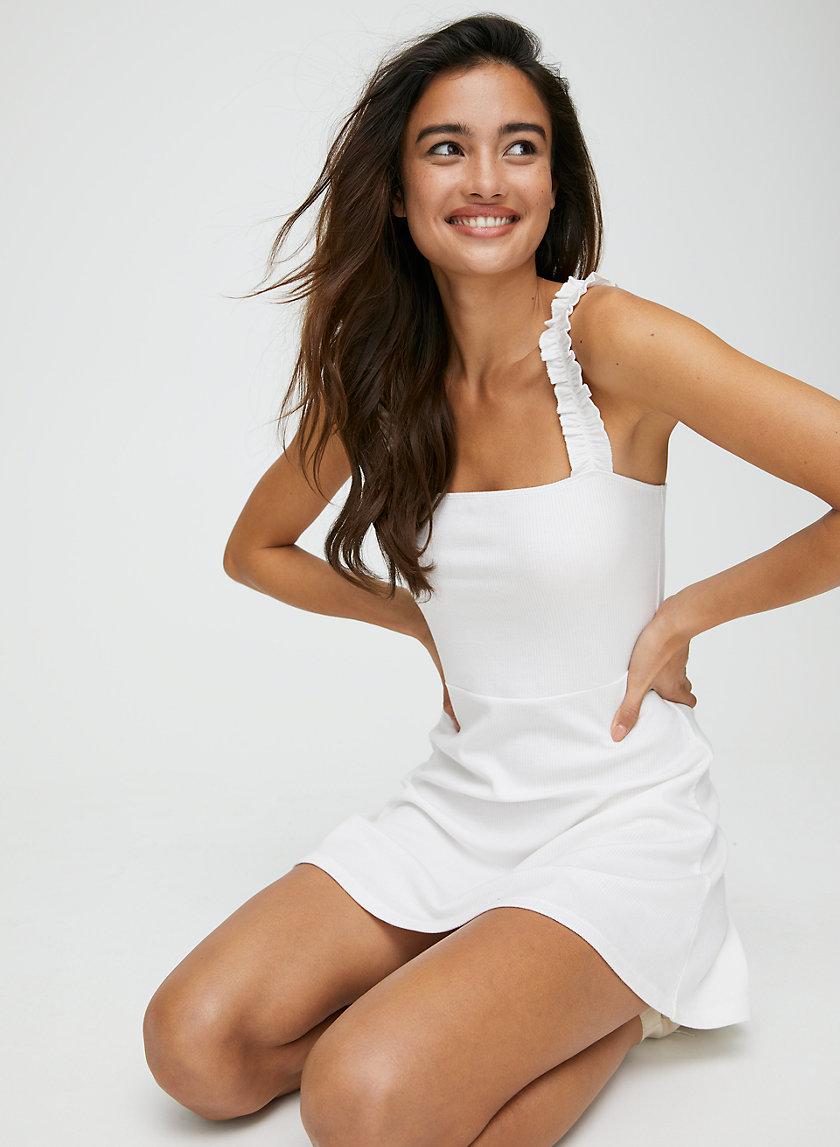 CIARA DRESS - Ruffle detail mini dress