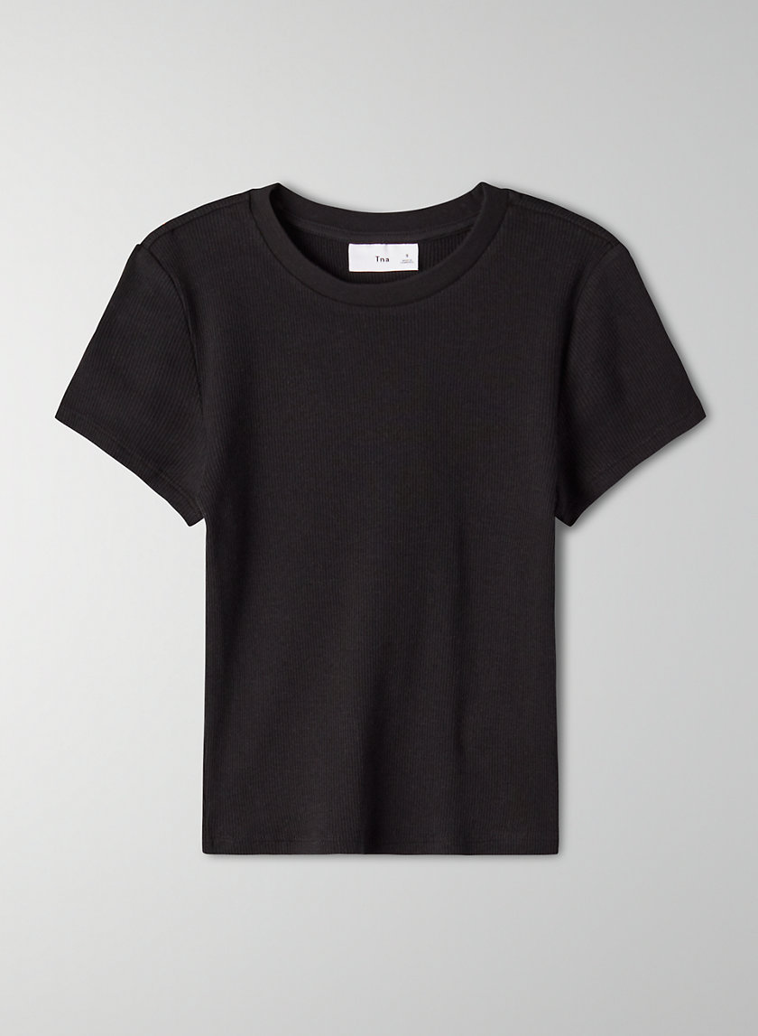 GIBBS T-SHIRT - Cropped, ribbed t-shirt