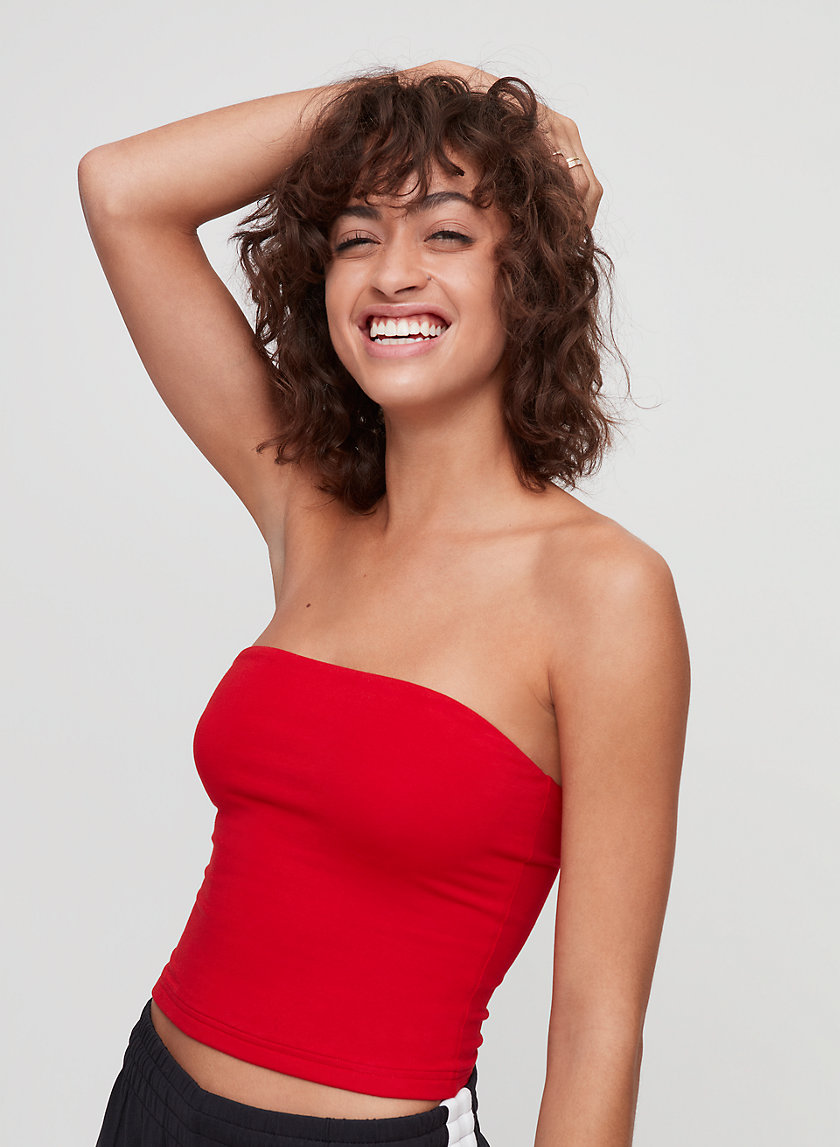 '90S TUBE TOP - Cropped, bodycon tube top