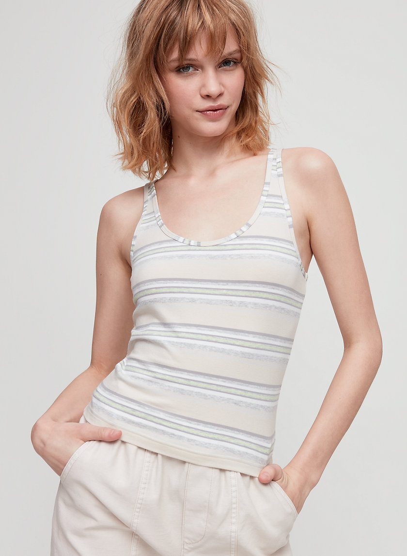 '90S BERGMAN TANK - Striped, scoop-neck tank top