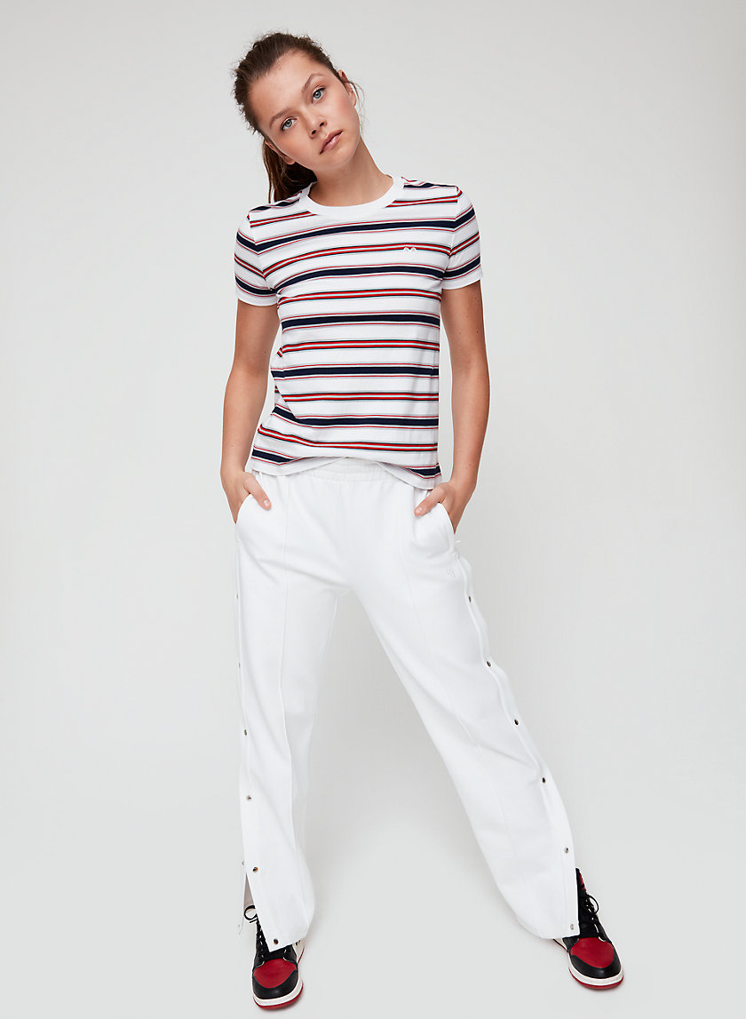 MAINLAND T-SHIRT - Striped, crewneck t-shirt