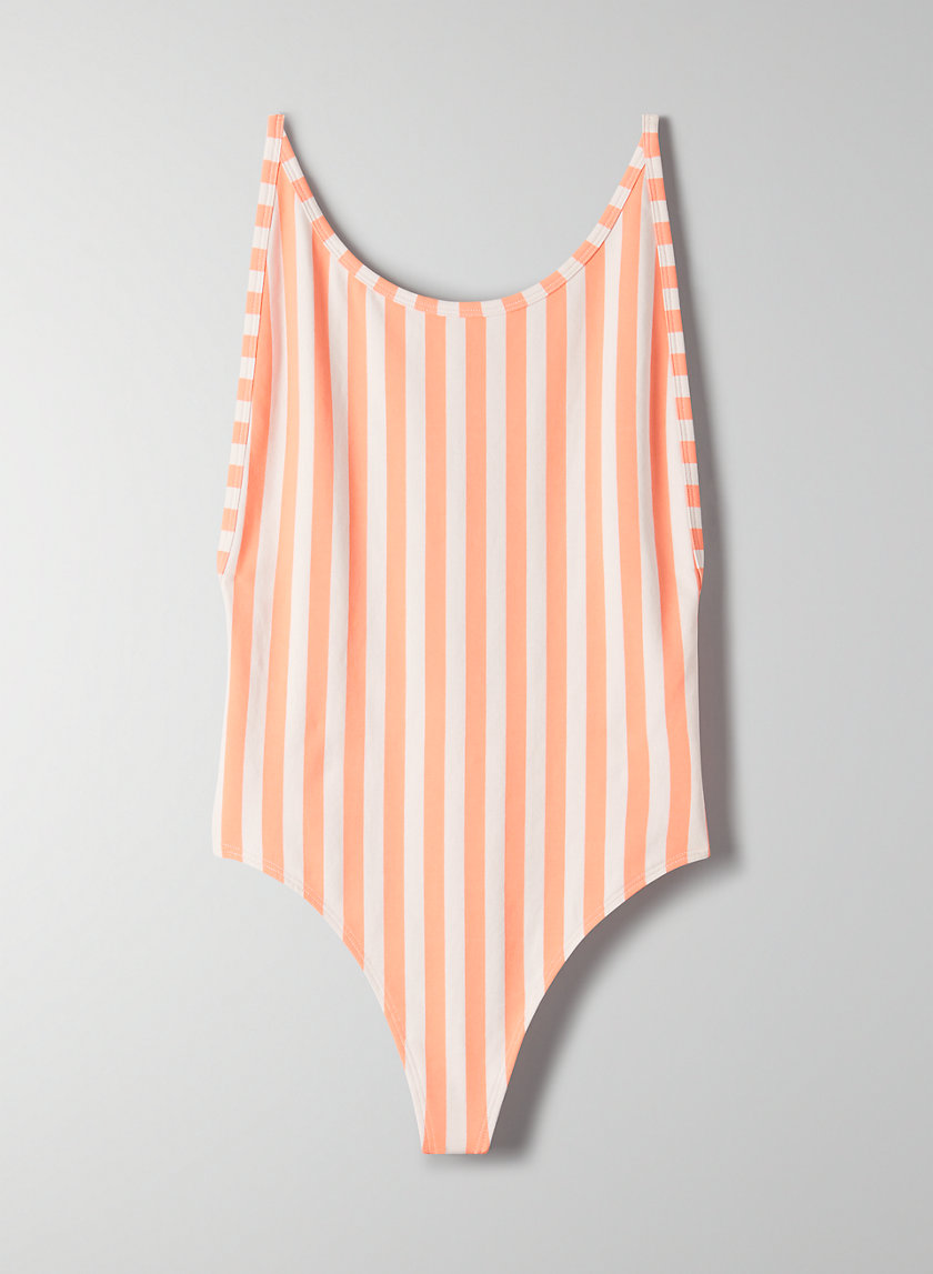 '90S COZUMEL BODYSUIT - Striped, open-back bodysuit