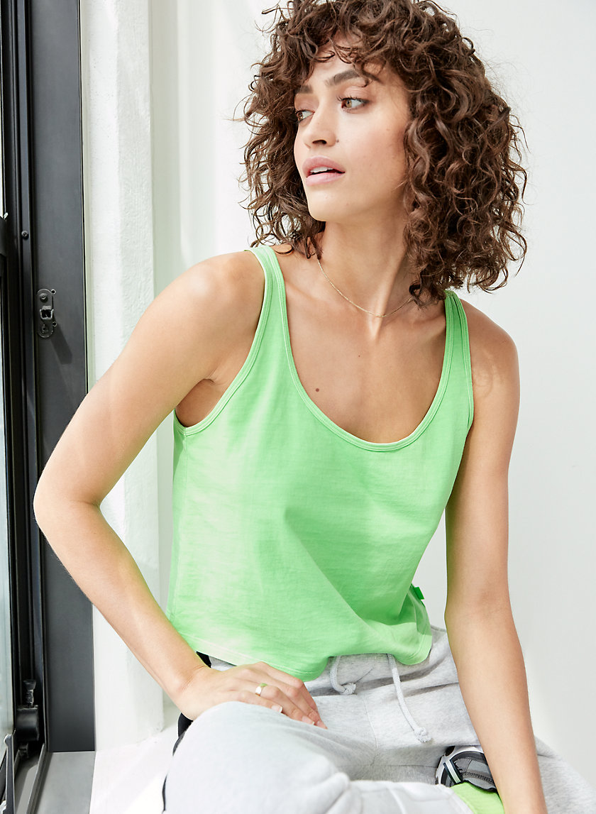 TERMES TANK - Scoop-neck cotton tank