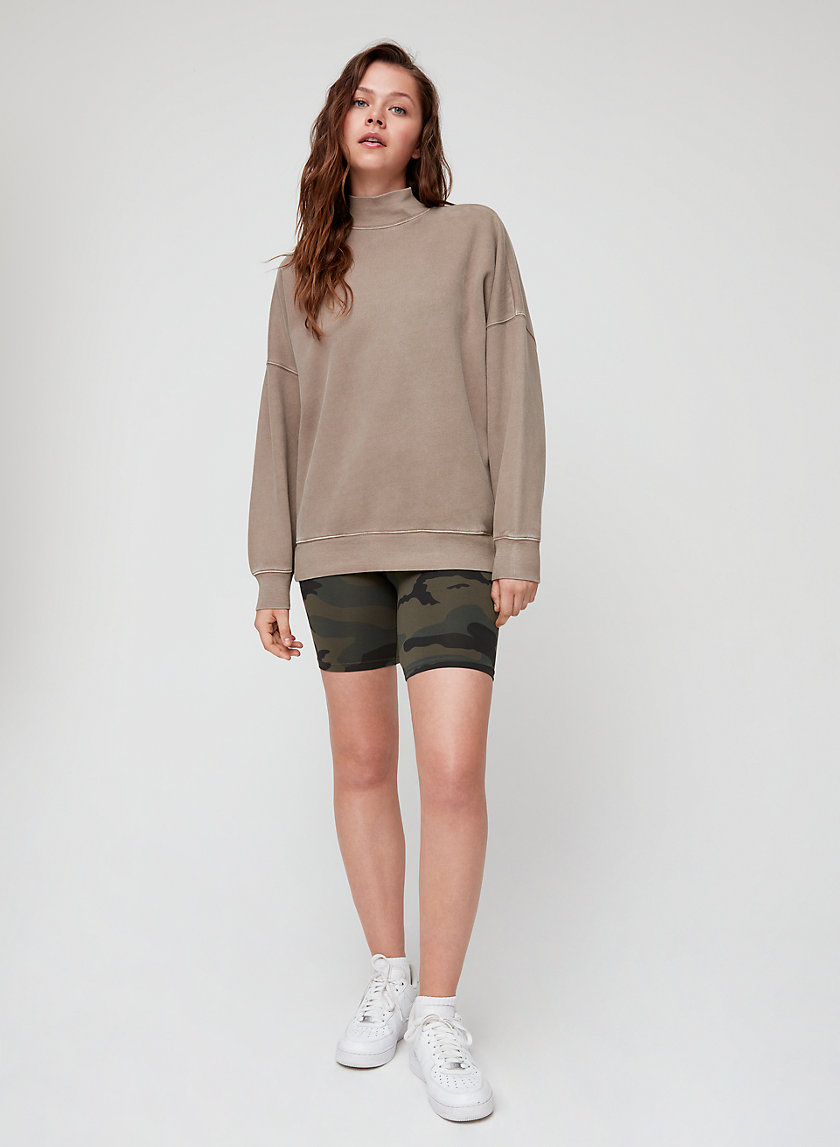 MADERA SWEATER - Oversized, mock-neck sweatshirt
